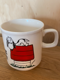 SNOOPY MUG - I THINK I'M ALLERGIC TO MORNING! 1958