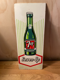 7UP / Seven -UP original 60s Painted sign - French