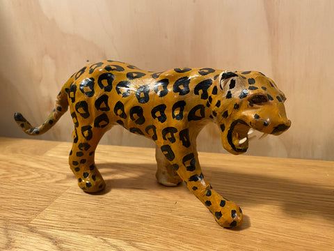 1950s Tourist piece leopard - leather