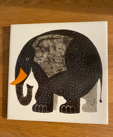 Kenneth Townsend 'Elephant' tile