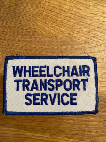 Wheelchair Transport Service Sew On Patch USA