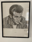 Large James Dean Pencil Drawing by Lance Collins