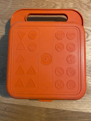 Tupperware - Traffic Sign lunch box 70s / 80s