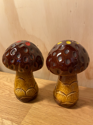 Vintage Mushroom Salt and pepper Set  - 60s / 70s  - Groovy