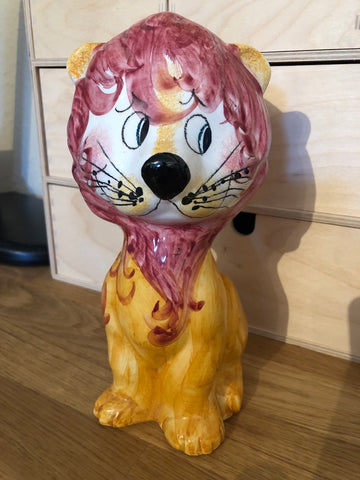 Italian Ceramic Lion Money Box / Money Bank  - 60s