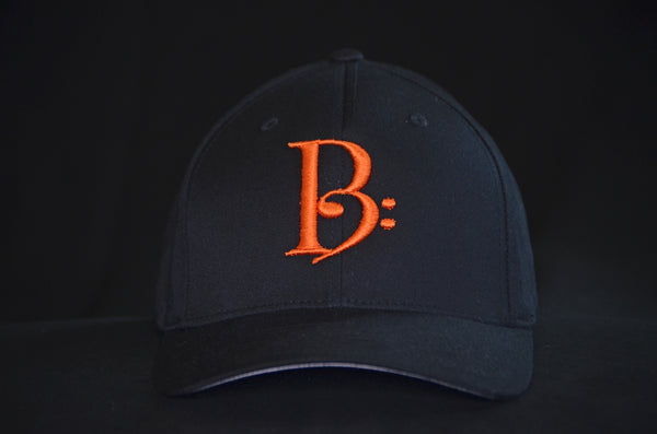 Orange on Black Fitted