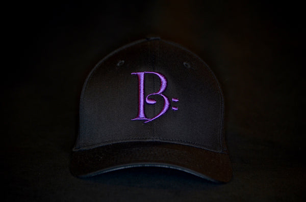 Purple on Black Fitted