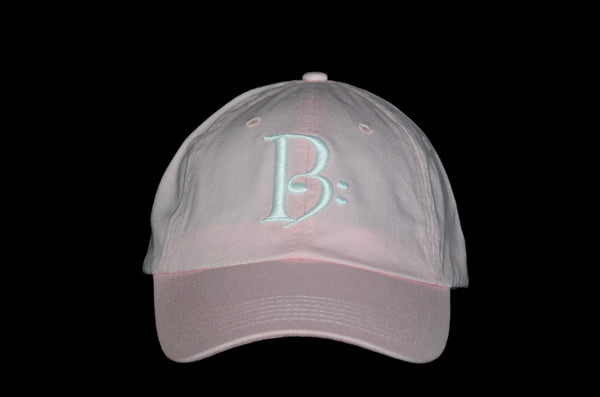 White on Light Pink Slouch Cap