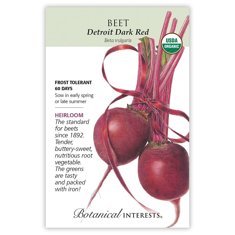 Beet, Detroit Dark Red Seeds Organic