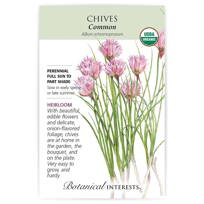 Chives Common Organic Seeds