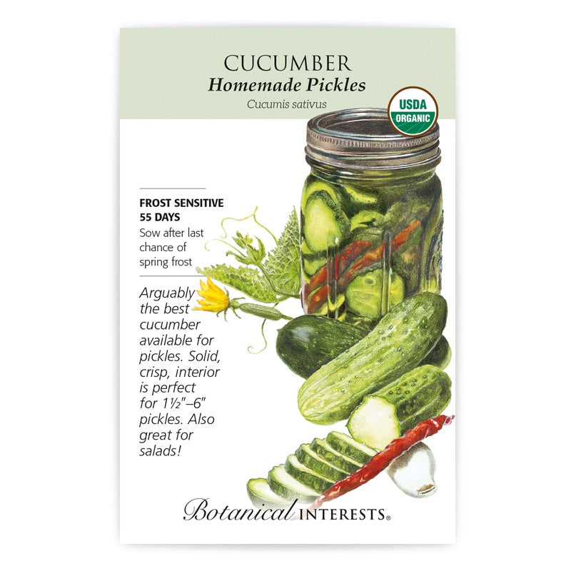Cucumber Homemade Pickles Seeds Organic