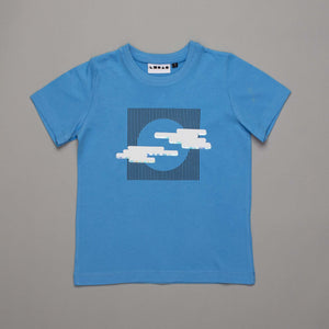 Monochrome Silver Lining T-shirt Powder Blue
