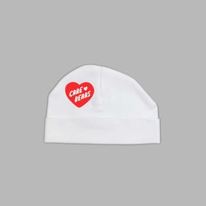 Baby Care Bear Heart White Hat