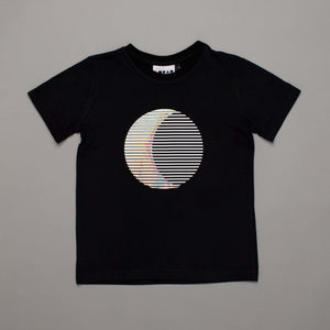 Sun Moon Illusion T-shirt Black