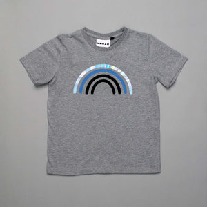 Monochrome Rainbow Clouds T-Shirt Grey