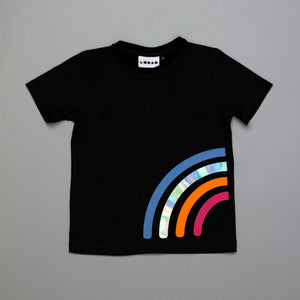 Reflective Rainbow T-shirt Black