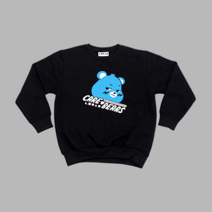 Kids Grumpy Bear Black Sweatshirt