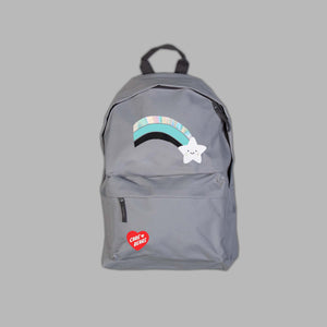 Grey  Wish Bear Rainbow Backpack
