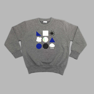 Kids Branded Bear Grey Sweatshirt