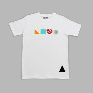 Adults Logo Shapes X Carebear White T-shirt