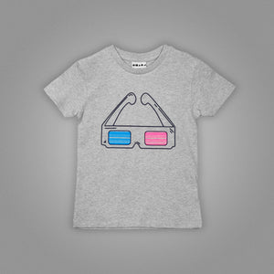 3D Glasses Kids T-Shirt