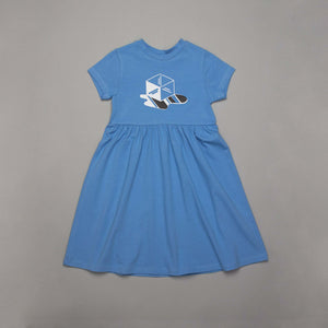 Ice Cube Skater Dress Powder Blue