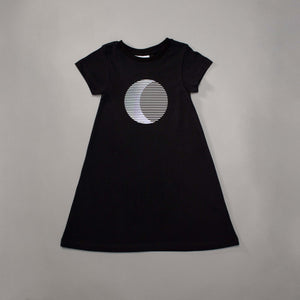 Sun Moon Illusion T-shirt Dress