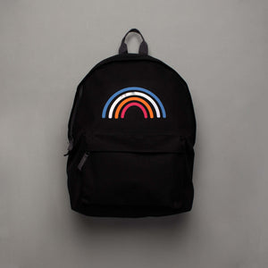 Reflective  Rainbow Rucksack Black