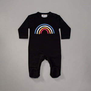 Reflective Rainbow Footsay Black