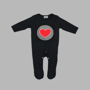 Baby Tenderheart Bear Black Jumpsuit