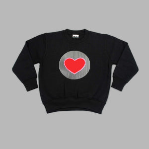 Kids Tenderheart Bear Black Sweatshirt
