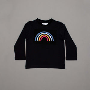 Reflective Rainbow Long Sleeved T-shirt Black