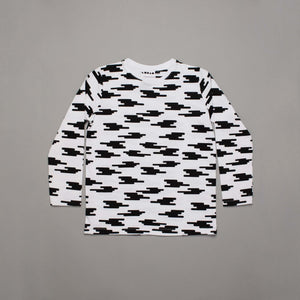 Monochrome Clouds Long Sleeved T-shirt
