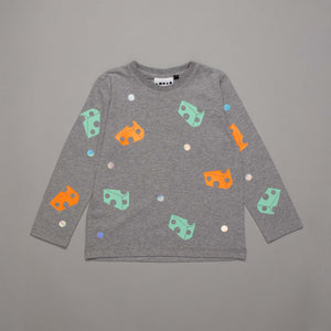Chalk and Cheese Long Sleeved T-shirt Grey
