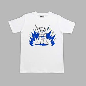 Kids Grumpy Bear  White T-shirt Colouring In