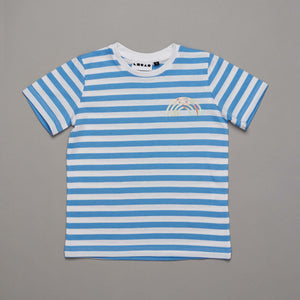 Reflective Rainbow T-shirt Blue Stripe