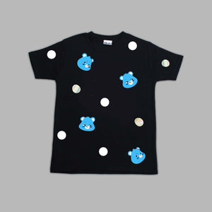 Kids Grumpy Bear Polka Black T-shirt