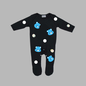 Baby Grumpy Bear Black Jumpsuit