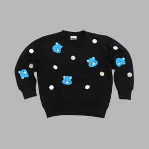 Kid Grumpy Bear Polka Black Sweatshirt