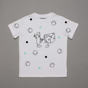 Chalk Cheese Colouring In T-shirt White