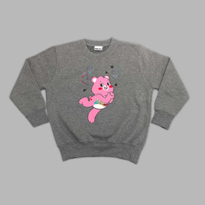 Kids Cheer Bear Grey Sweatshirt
