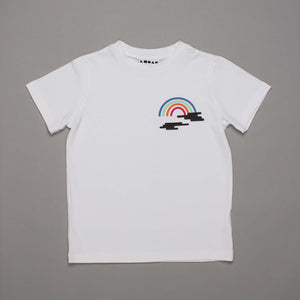 Colour Rainbow Clouds T-shirt White
