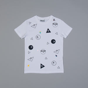 Colour Me In Animated Faces T-shirt
