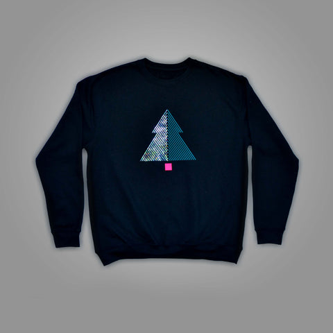 Black Tree Illusion Christmas sweatshirt
