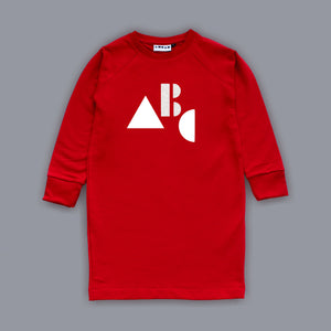 Sweatshirt ABC Dress Red