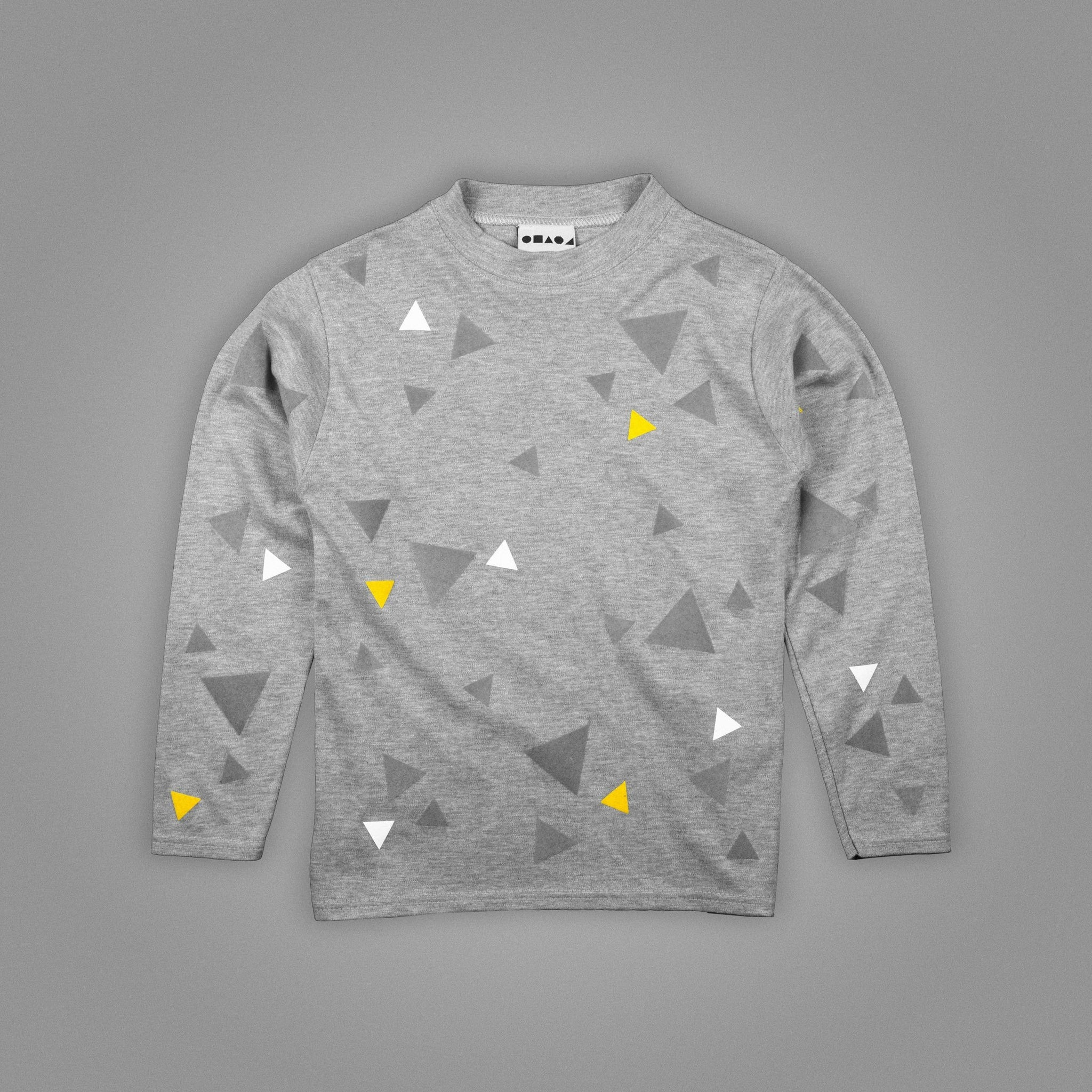 Scatter Triangles Long Sleeved T-Shirt