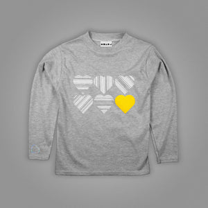 Branded Striped Hearts Long Sleeved T-Shirt