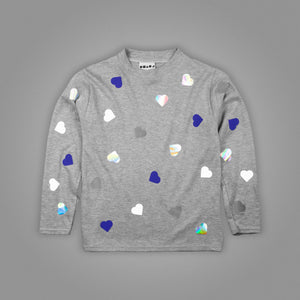 Polka Heart Long Sleeve T-Shirt