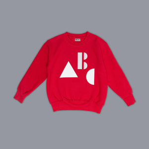 ABC Sweater Red