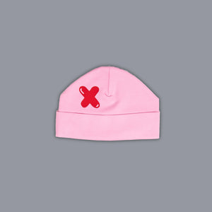 Noughts + Crosses Hat Pink